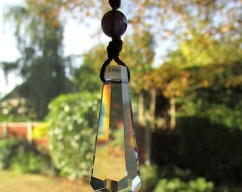 Crystal Rainbow Sun Catcher with Customised Gemstone Beads