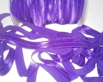 1,2,3 or 5. Yards FOE 5/8  Purple Fold Over Elastic. Headband Supplies DIY