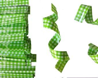 SALE - 20% batch of 25 ties (ties) gingham color green for your packaging