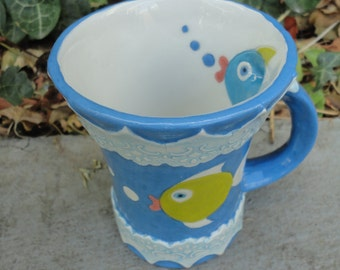 Ceramic cup- coffee cup-tea cup- handmade cup