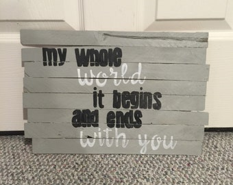 Wooden Zac Brown Band Sign