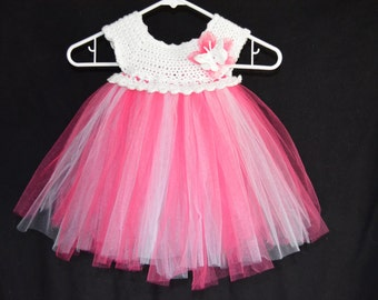 Butterfly and flower tutu dress