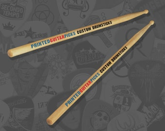 Custom Printed Drumsticks Personalised Drum Sticks Drummer Drums 5A Maple Personalised Drumsticks Customised