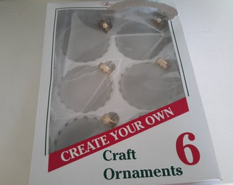 Six Frosted Ornaments To Craft Into You're Own Creations