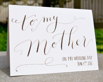 To My Mother Card | To my mother on my wedding day card | To My Mom Card | Mom Card | Bride's Card| Mother of the bride card