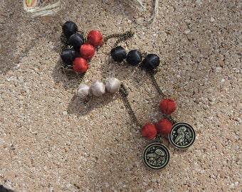 tribal multi color necklace
