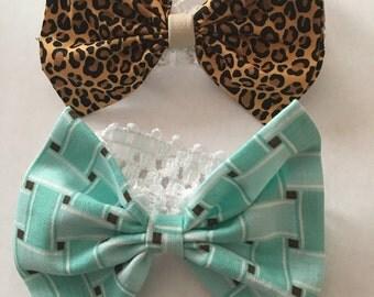 7 handmade cottom headbands various colors