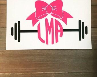 Fit girl monogram