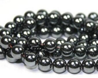 AAA Rated Genuine Hematite Beads, 16'' Strand (3mm-12mm). 817-501