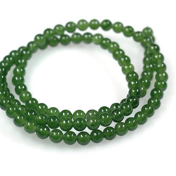 Genuine Jade Beads: AAA Rated Genuine Green Nephrite Jade Beads 16