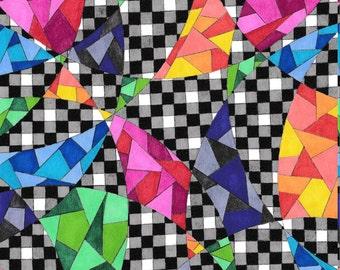 Colorful Gray Geometric Art Print