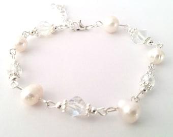 Dainty Bridal Bracelet