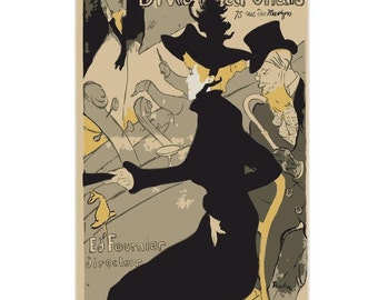 Divan Japonais Vintage French Canvas Poster Giclee Art Print Gallery Wrapped