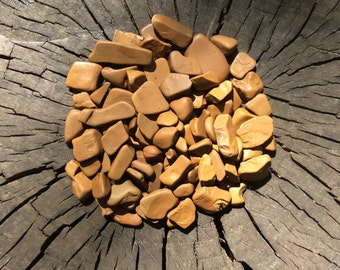 80 pcs Terracotta Sea stones Sea Pottery pieces Beach pottery Broken pottery Beach Sea stones Natural sea stones Lucky stones aquarium decor