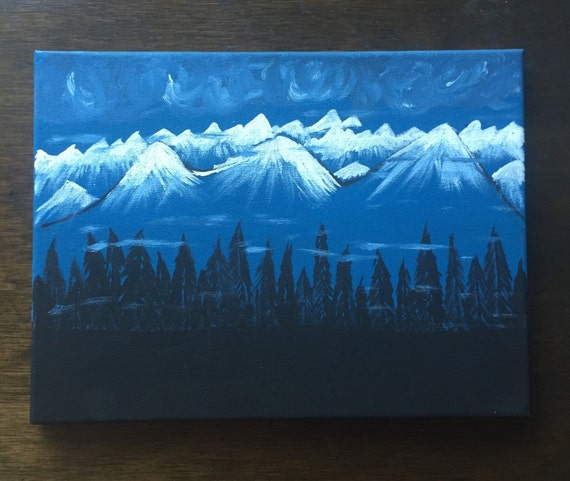 Original hand painted acrylic painting