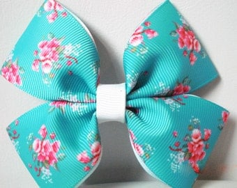 Teal Rose Boutique Bow