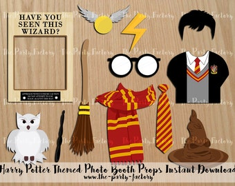 Harry Potter Photo Booth Props Instant Download