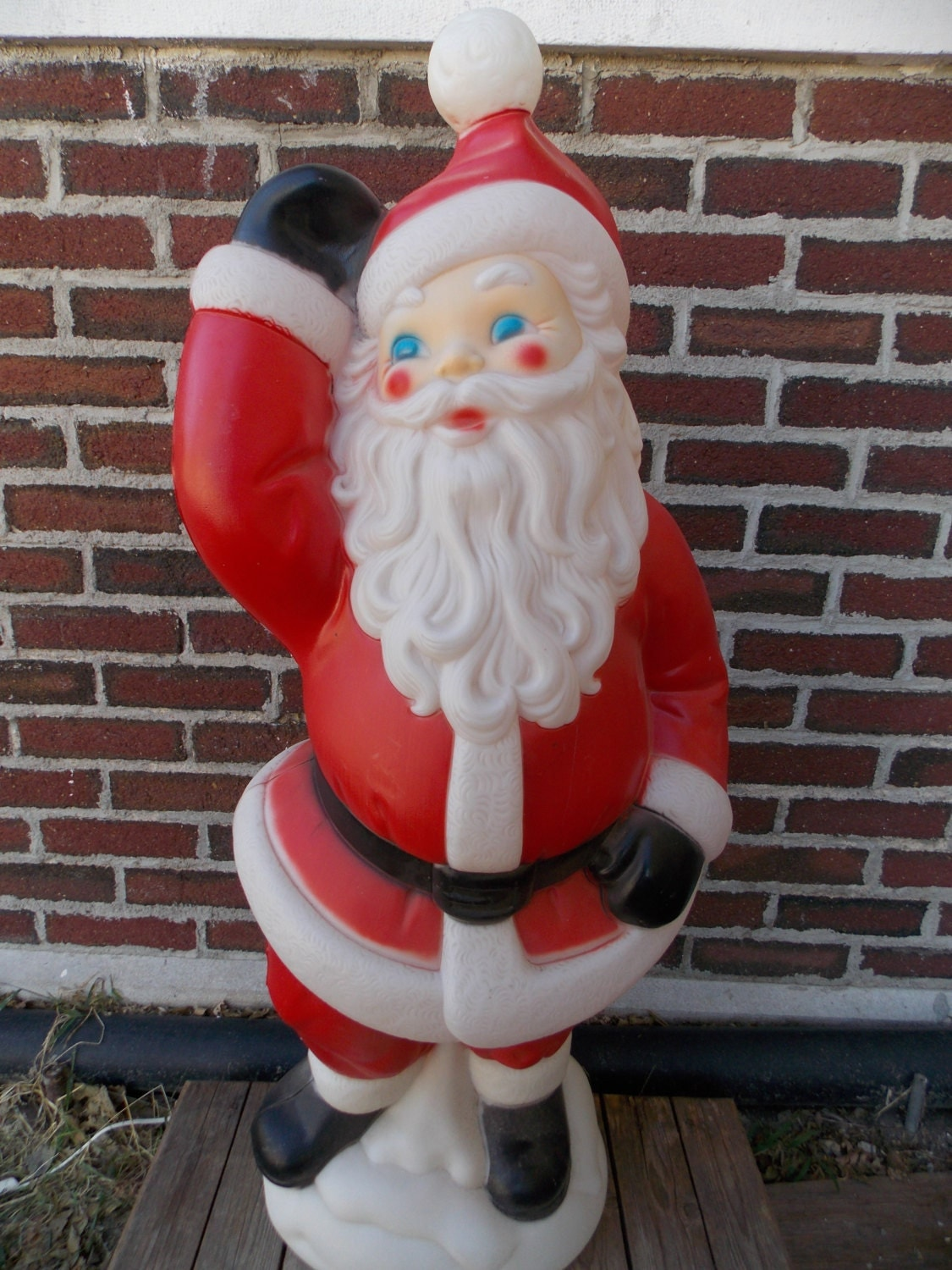 Large 40 blow mold santa waving christmas blow mold Classic outdoor christmas decorations