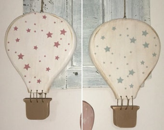 Hot air balloons shabby