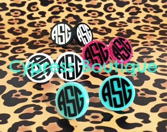 Personalized Monogram Earrings