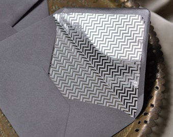 Lined envelopes, padded envelopes 10 piece, SILVER METALLIC
