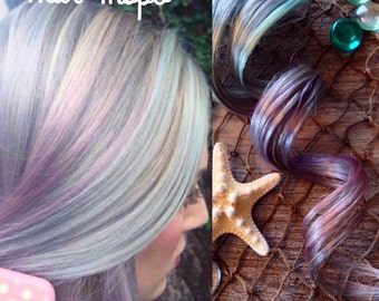 Silver ombre hair extensions, Lavender hair, Pastel hair, Pink hair, Hair Extensions Clip in, Mermaid Hair