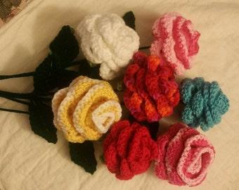Beautiful Bouquet of Crochet Roses