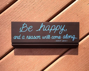 Be Happy Handpainted Sign