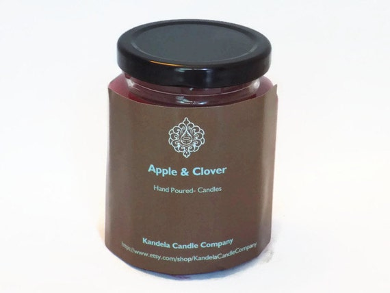 Apple and Clover Scented Candle 9 oz. Twelve Sided Jar