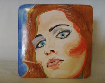 Ceramic Portrait  , Price Includes Standard Shipping In U.S.A.