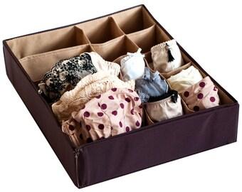 Marvelous Brown Panties Organizer \ Combo Organizer, Lingerie Storage, Underwear  Storage, Storage