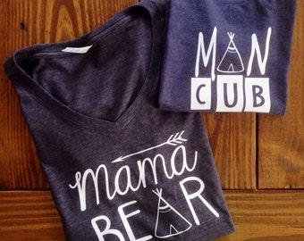 SET OF 2 mama bear ans man cub set
