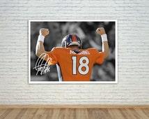 Peyton Manning pre-printed autograph