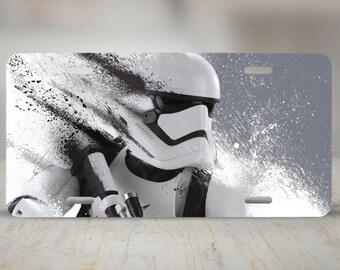 Stormtrooper Aluminum License Plate