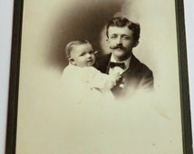 Father Holding Baby Cabinet Photo Sweet Image Wheaton, Illinois