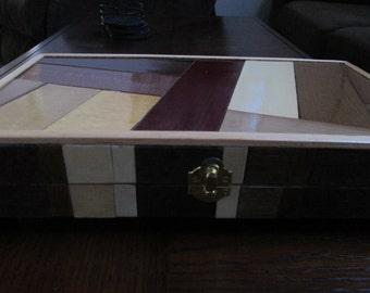 Jewelry Box, repurposed box, unique box, refurbished box, hand made jewelry box