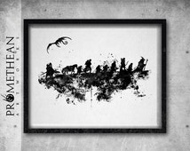 The Hobbit minimalist, abstract and watercolour effect print - 3 FOR 2