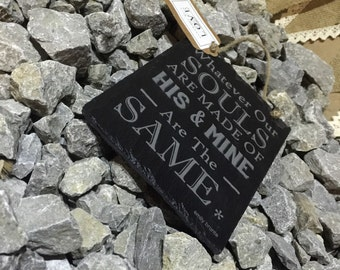 BS Luxury Laser Engraved Emily Bronte Quote Beautiful Slate Plaque