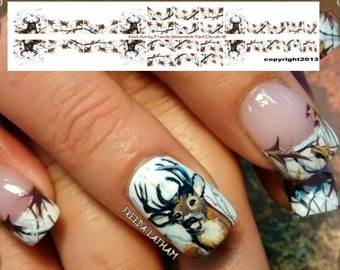 Camo nail decal etsy 30 snow camo with buck nail decals from the signature collection prinsesfo Image collections