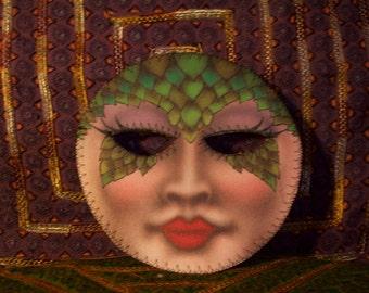 Lizard Lady Mask