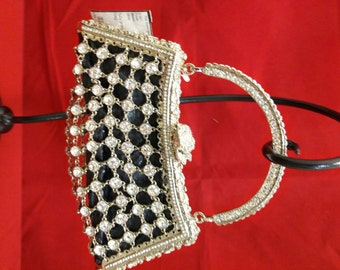 Beautiful Besso Swarovski Rhinestone Crystal Evening Bag Purse - Sparkles!