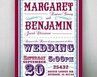 Big Top - Circus Wedding Invitation