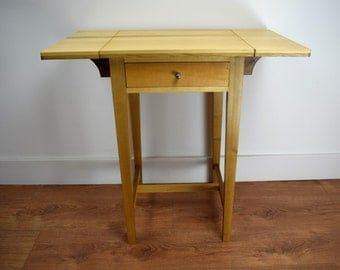 Hand Crafted Drop Leaf Hall Table
