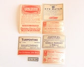 Vintage Poison Label Set - Ephemera - Labels - Pharmacy - Mixed Media - Altered Art - Assemblage - Collage - Scrapbooking