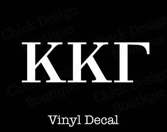Kappa Kappa Gamma Greek Alphabet Letters Vinyl Decal