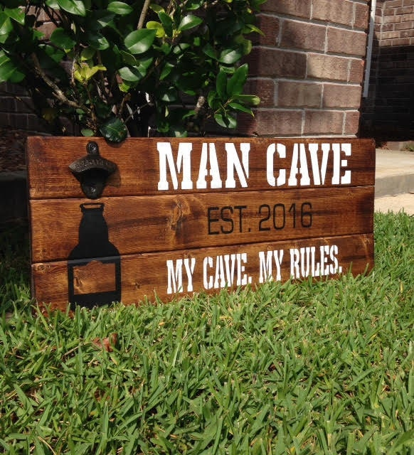 Man Cave Decor Etsy : Man cave sign decor by