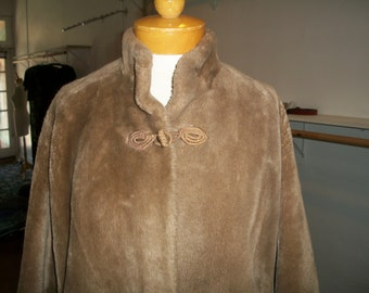 Glamorous Vintage 1950's Borgana Faux Fur  Coat. Purchased By My Mother in an Upsale Boutique in Glendale, CA.  Size M/L.