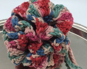 Crochet Cotton Loofah Scrubbie