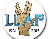 Live Long And Prosper Mr Spock Leonard Nimoy 2-1/4 Inch Pinback Button
