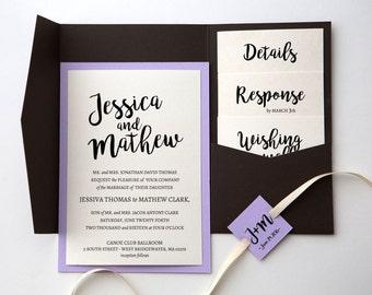 Pocket Invitation Template | Pocket Invitation Template | Modern invitation | Printable pocket invite